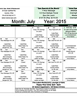Click to view July Calendar of Events